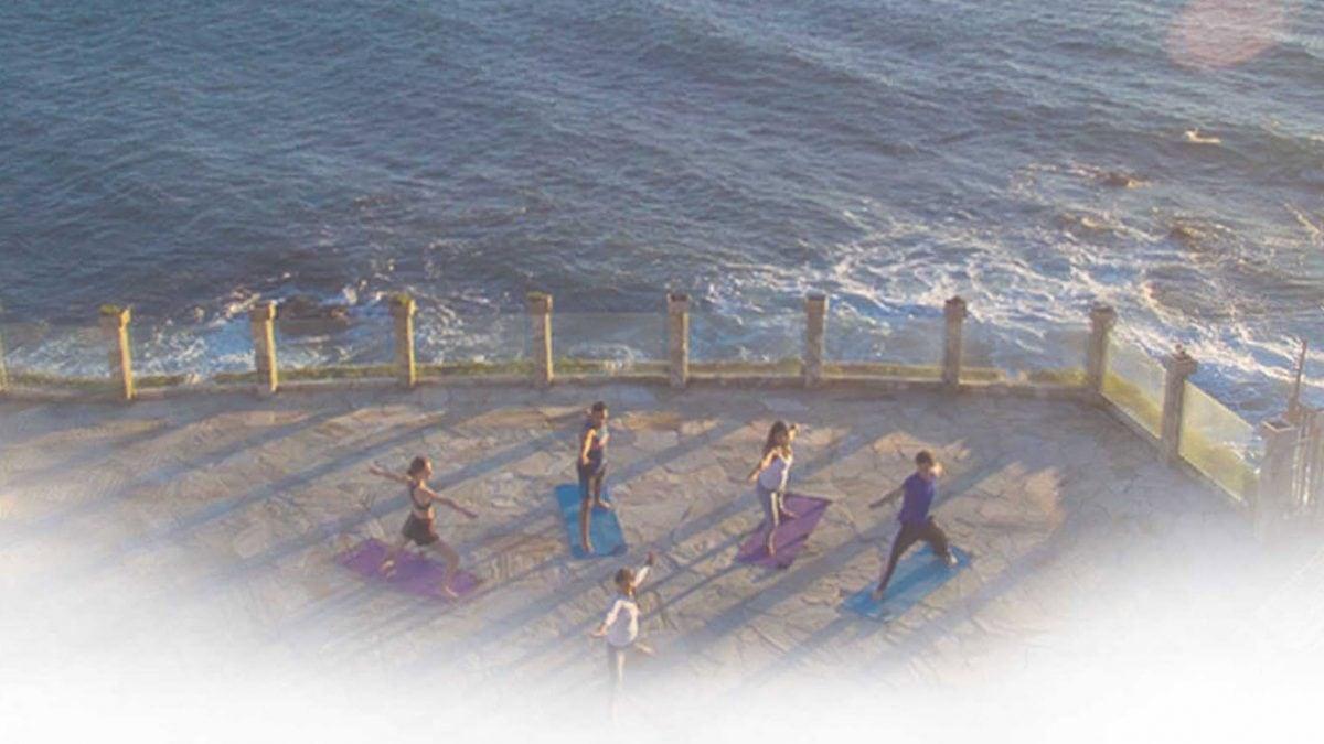 luxury wellness center on the beach
