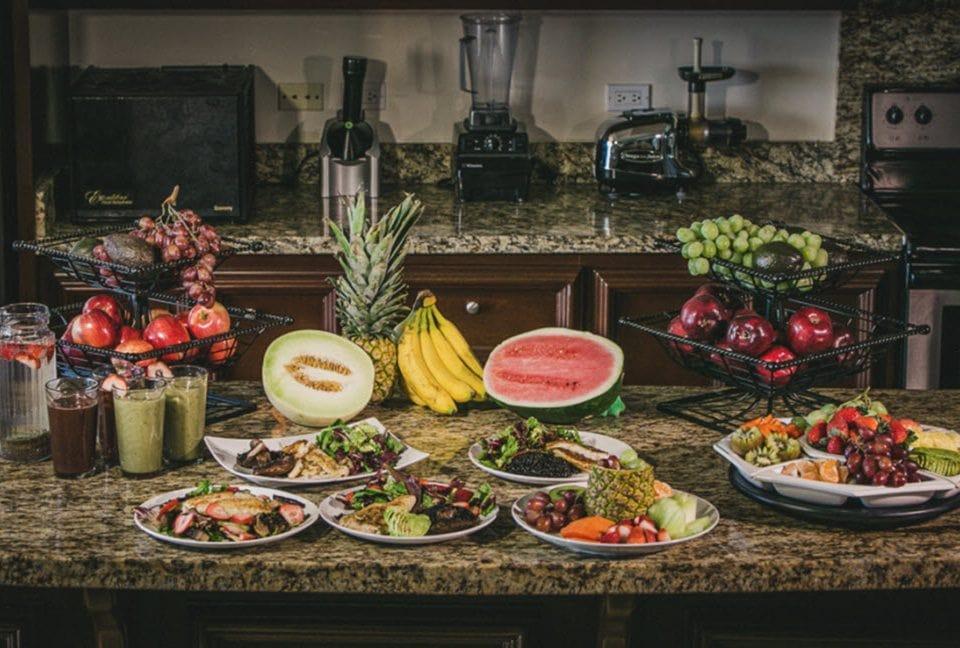 organic foods at the holistic sanctuary